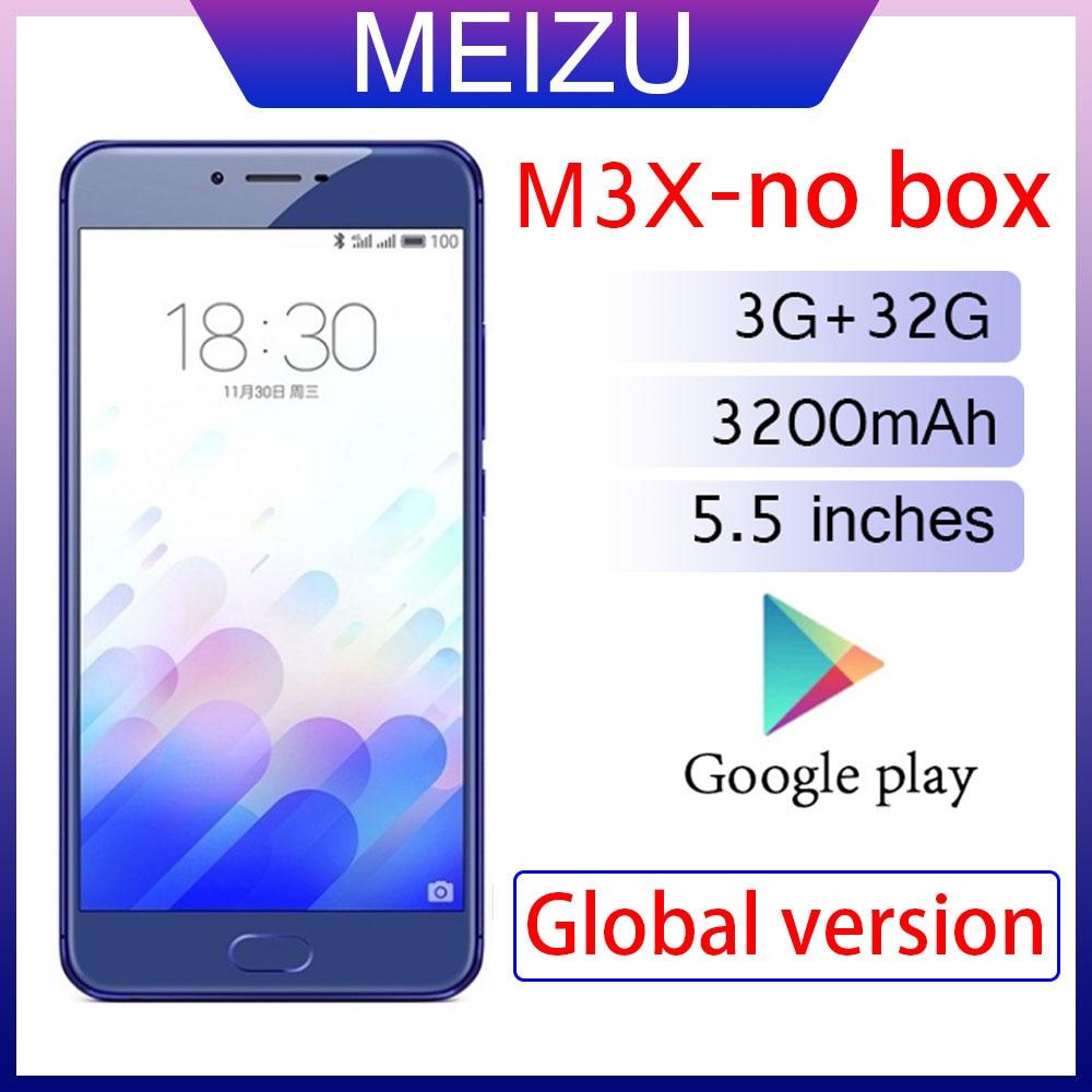 Смартфон 98% Новый Meizu M3X, 3 Гб оперативной памяти, 32 Гб встроенной памяти, глобальная Версия Мобильный телефон 3200 мА/ч, Батарея MediaTek Helio P20 5,5-дюй...