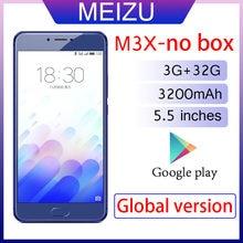 Smartphone 98% novo meizu m3x 3gb 32gb versão global telefone móvel 3200mah bateria mediatek helio p20 5.5 polegadas tela celular