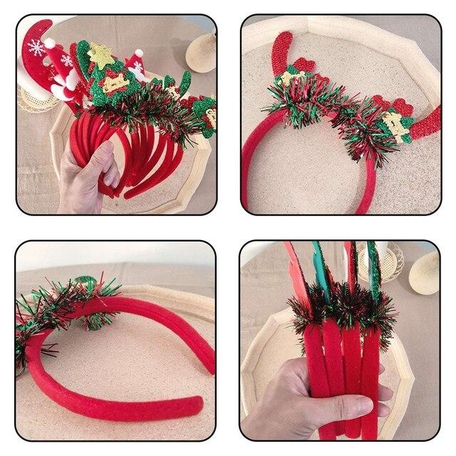 Cute Christmas Headband Dear Sant Snowman Deer Antler Hair Band Christmas Antlers Horns Headband Xmas Parties Accessories