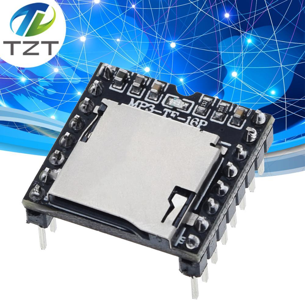 TZT Mini MP3 Player Module TF Card U Disk Mini MP3 Player Audio Voice Module Board For Arduino DF Play Wholesale DFPlayer