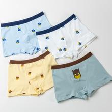 3pcs/lot  Fashion Childrens Underwear Boys Shorts Cartoon Robot Batman Patterns Flat-angle BoysUnderwear Soft