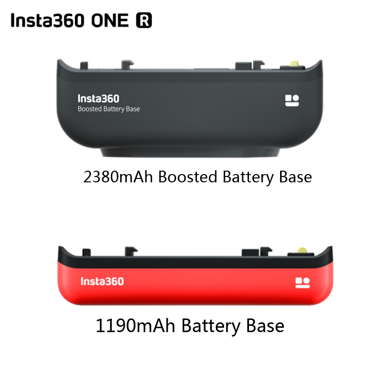 2380mah original insta360 um r impulsionou a base da bateria/1190mah base da bateria para insta360 r toda a câmera da edição do mod