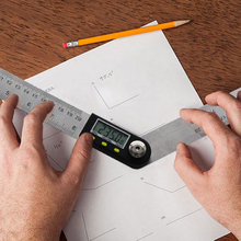 Digital Angle Ruler With LCD Display Finder Protractor 200mm 0-360 Degree