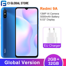 Versión Global Xiaomi Redmi 9A 2GB RAM 32GB ROM Smartphone MTK Helio G25 Octa Core 6,53
