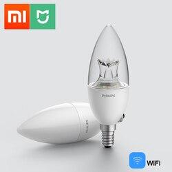 Original Xiaomi Mijia Philips Smart LED Lamp Wifi Remote Control by MI HOME APP E14 Bulb 3.5W Smart Home Kits Xiaomi LED Lamp