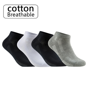 10 Pairs High Quality Men's Cotton Socks Large Size45.46.47.48.49 Summer Casual Breathable Mesh Black White Male Socks Short New