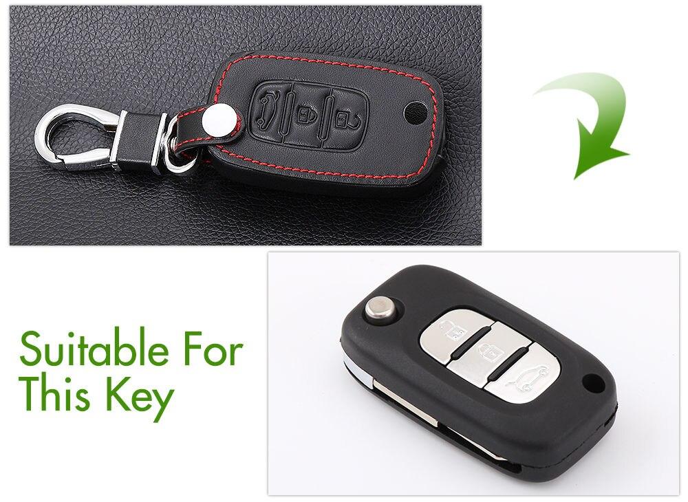 Автомобильный складной кожаный чехол для ключей для LADA Sedan Largus Kalina Granta Vesta X-Ray XRay брелок-чехол для дистанционного ключа защитный набор - Название цвета: B Style