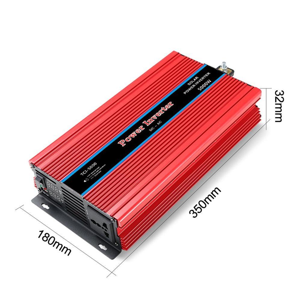 Display duplo inversor de potência do carro conversor usb carregador adaptador onda senoidal modificada 3000/4000/5000/6000 w - 2
