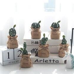Pościel kaktus Mini roślina doniczkowa sztuczna roślina biurko powierzchnia dekoracja paneli kaktus sztuczna roślina pulpit pot