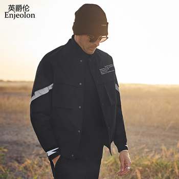 Enjeolon Autumn Winter Pilot Air Men Bomber Jacket Streetwear Baseball Jackets Male Casual Coat Men Clothes Plus Size JK0350