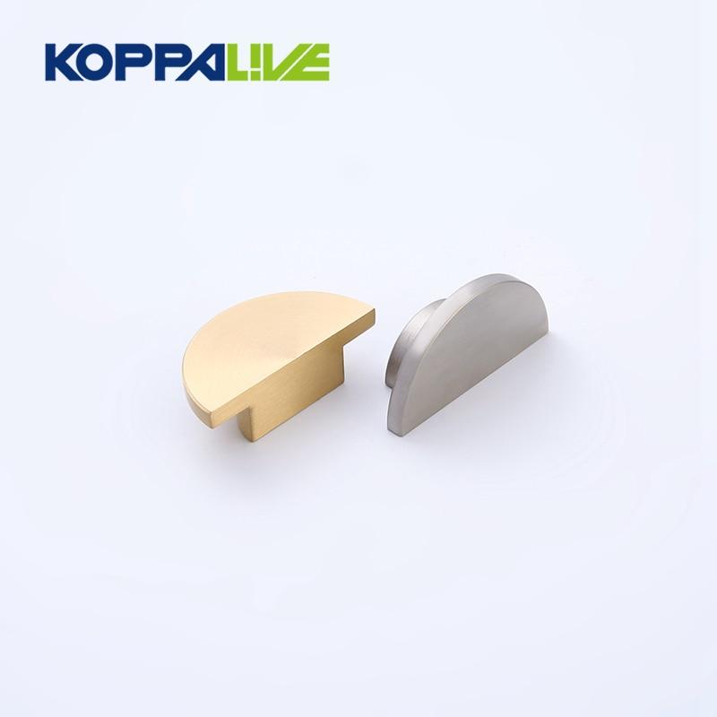 Полу-лунный шкаф из латуни Koppalive, одинарный Holecabinet, полукруглые тянущиеся ручки, мебельная фурнитура