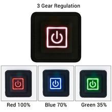 3.7 12 12v interruptor de botão de silicone aquecido colete calças luvas electirc aquecimento cintura diy controlador temperatura interruptor rheostat