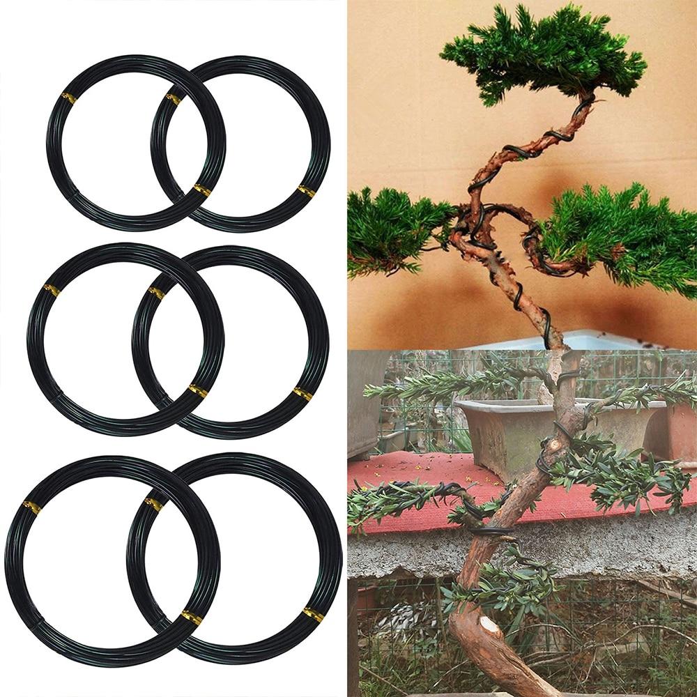 Bonsai Wires Anodized Aluminum Bonsai Training Wires 1mm/1.5mm/2mm Gardening Tools Pot Bonsai Shape Aluminum Wires Black(China)