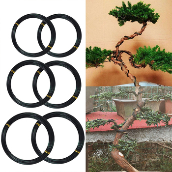 Bonsai Wires Anodized Aluminum Bonsai Training Wires 1mm/1.5mm/2mm Gardening Tools Pot Bonsai Shape Aluminum Wires Black romance in wires
