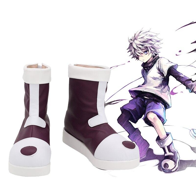 Hunter x hunter botas de cosplay hunter x hunter killua zoldyck sapatos feitos sob encomenda l320