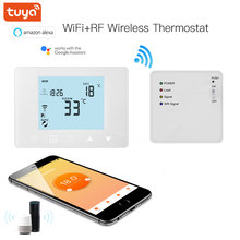 TUYA WiFi & RF Wireless Room Thermostat for Gas Boiler Water Floor Heating Remote Temperature