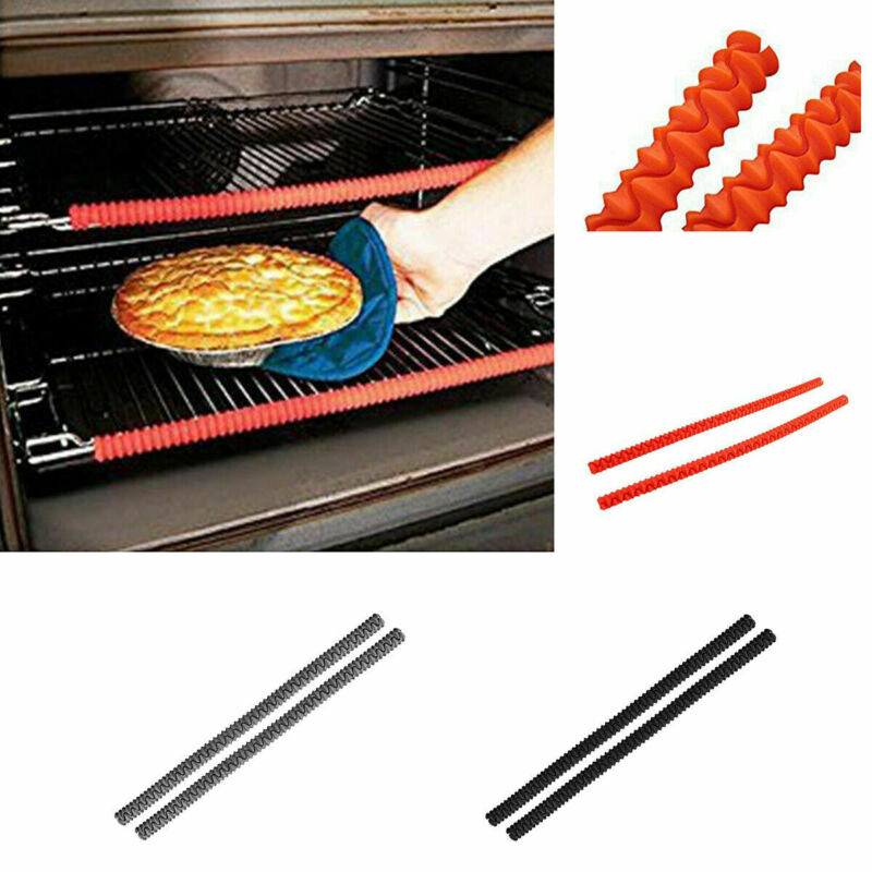 Oven Shelf Protector Silicone Rack Guard Heat Resistant Avoid Burns Strips