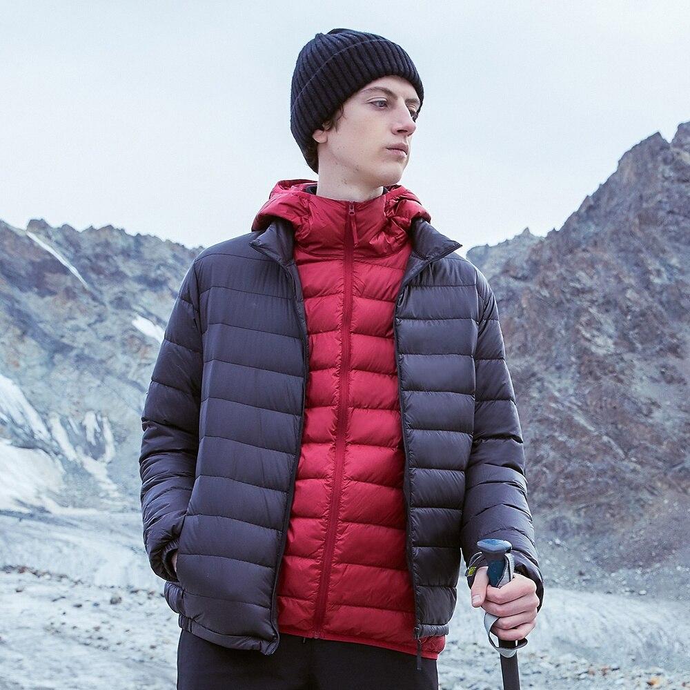 Metersbonwe 2019 Donsjack Mannen Winter Draagbaarheid Warm 90% Witte Eendendons Hooded Man Jas Jaqueta Masculino Chaqueta Hombre - 5