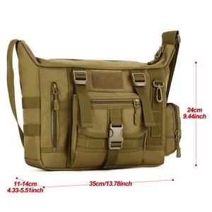 Image 2 - Tactical Sling Shoulder Bag Mens Waterproof Sport Military Crossbody Bag Outdoor Travel Molle Messenger Bag For 14 Laptop