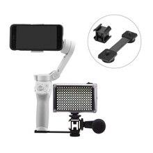 LED Video Fill Light Mount Cold Shoe Microphone Holder for DJI OM 4 Omso Mobile 2 3 Zhiyun Smooth 4 Feiyu Vimble Vlog Pocket