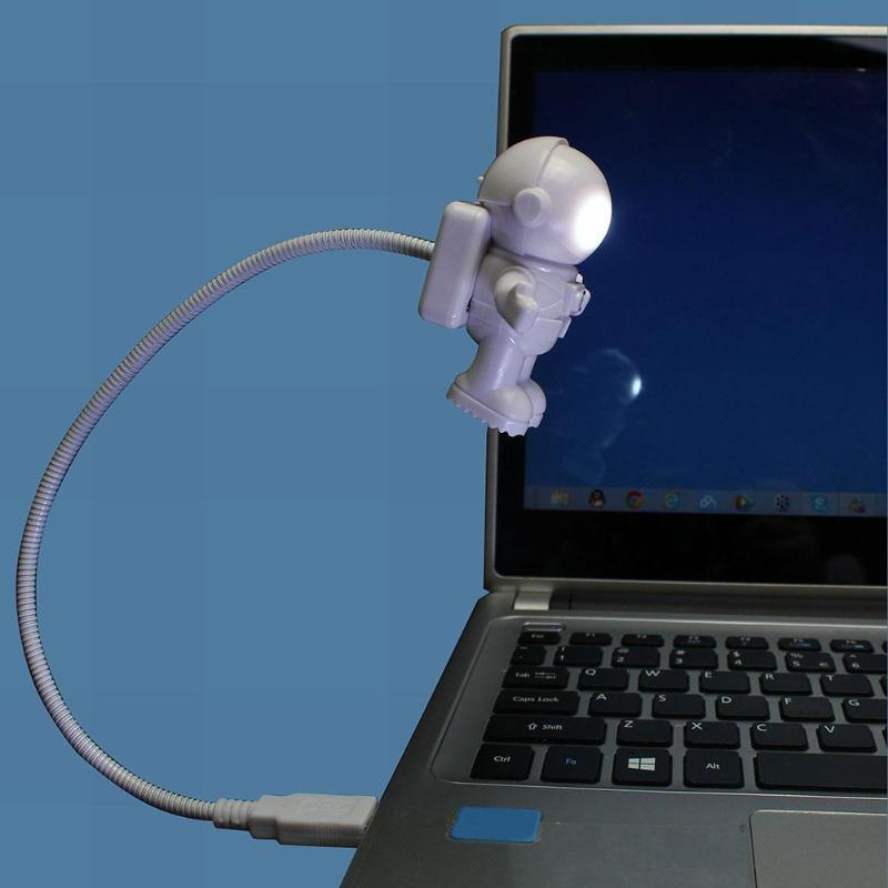 USB LED Night Lamp Astronaut Walkman Adjustable Desk Light For Home Bedroom