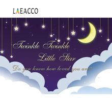 Twinkle Little Star Moon Shiny Cloud Baby Newborn Party Pattern Photo Backdrops Backgrounds Photocall Studio