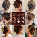 2021 Новые простые элегантные заколки для волос из сплава заколки для волос для макияжа Стайлинг волос для женщин заколки для путешествий акс...