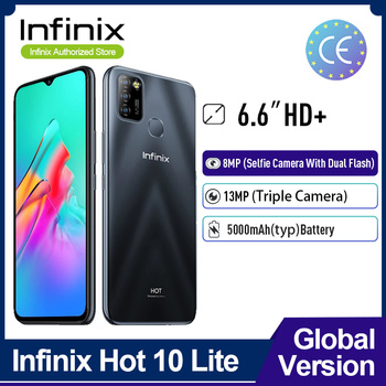 Infinix Hot 10 Lite Global Version 2+32GB Mobile Phone 6.6''HD 1600*720P 5000mAh Battery 13MP Camera Helio A20 1