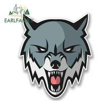 EARLFAMILY 13cm x Cartoon Angry Husky Wolf Funny Car Stickers RV VAN 3D DIY Fine Decal Bumper Trunk Graphics Accessories