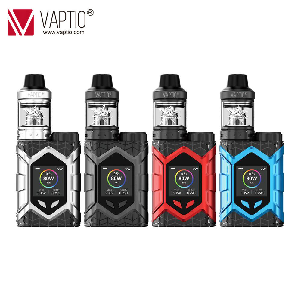 [UK SHIPPING]Original Vaptio Wall Crawler Vape Kit 2.0/5.0ml Vaporizer 80W 0.05/2ohm Electronic Cigarette TCR 1.3inch TFT Screen