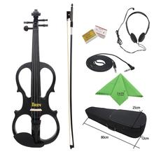 цена на IRIN 4/4 Electric Acoustic Violin Fiddle with Violin Case Cover Bow for Musical Stringed Instrument Lovers Beginners