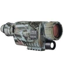 5x40 HD цифровое устройство ночного видения может быть оснащено картой памяти SD видео охотничий патруль ночной инфракрасный монокулярный телескоп