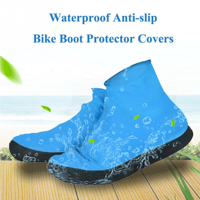 1Pair Outdoor Foot Wear Reusable Shoe Cover Portable Travel Thick Sole Accessories Protective Anti Rain Emulsion Waterproof
