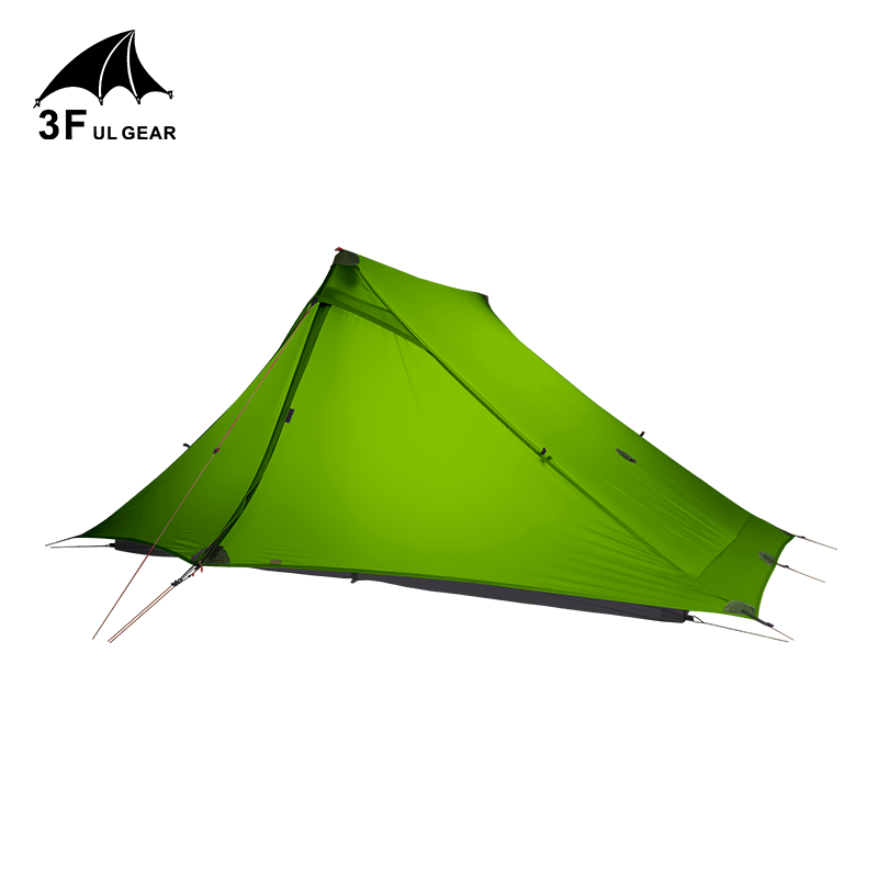 3F UL GEAR Lanshan 2 pro Tent Outdoor 2 Person Ultralight Camping Tent 3 Season Professional 20D Silnylon Rodless Tent