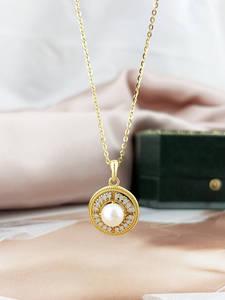 Женское ожерелье с подвеской из серебра 925 пробы, с пресноводным жемчугом
