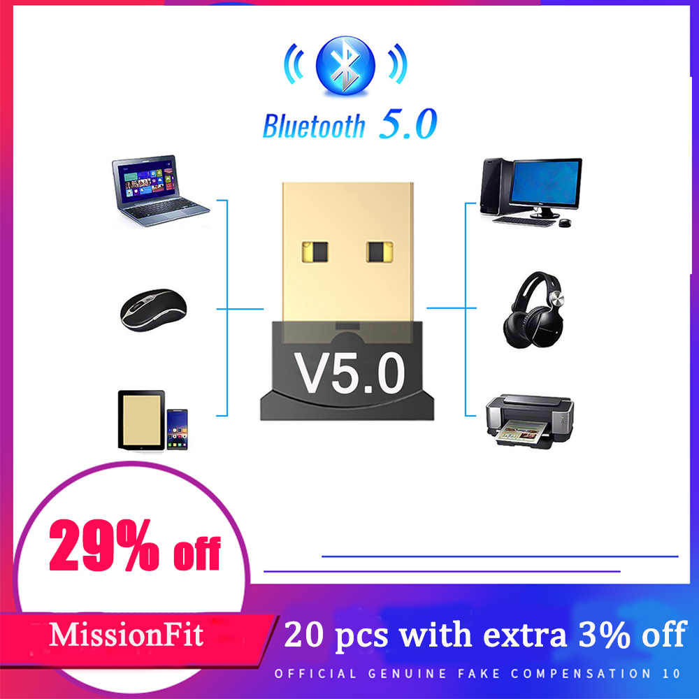 USB Bluetooth 5.0 Adapter Dongle Audio Transmitter Bluetooth Receiver Wireless USB Adapter For Computer PC Laptop
