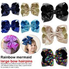 1 Pcs/Pack Girls Fashion Headwear Mixed shape headwear, fashion and cute. Color Sequins Bow Hair Clip Casual
