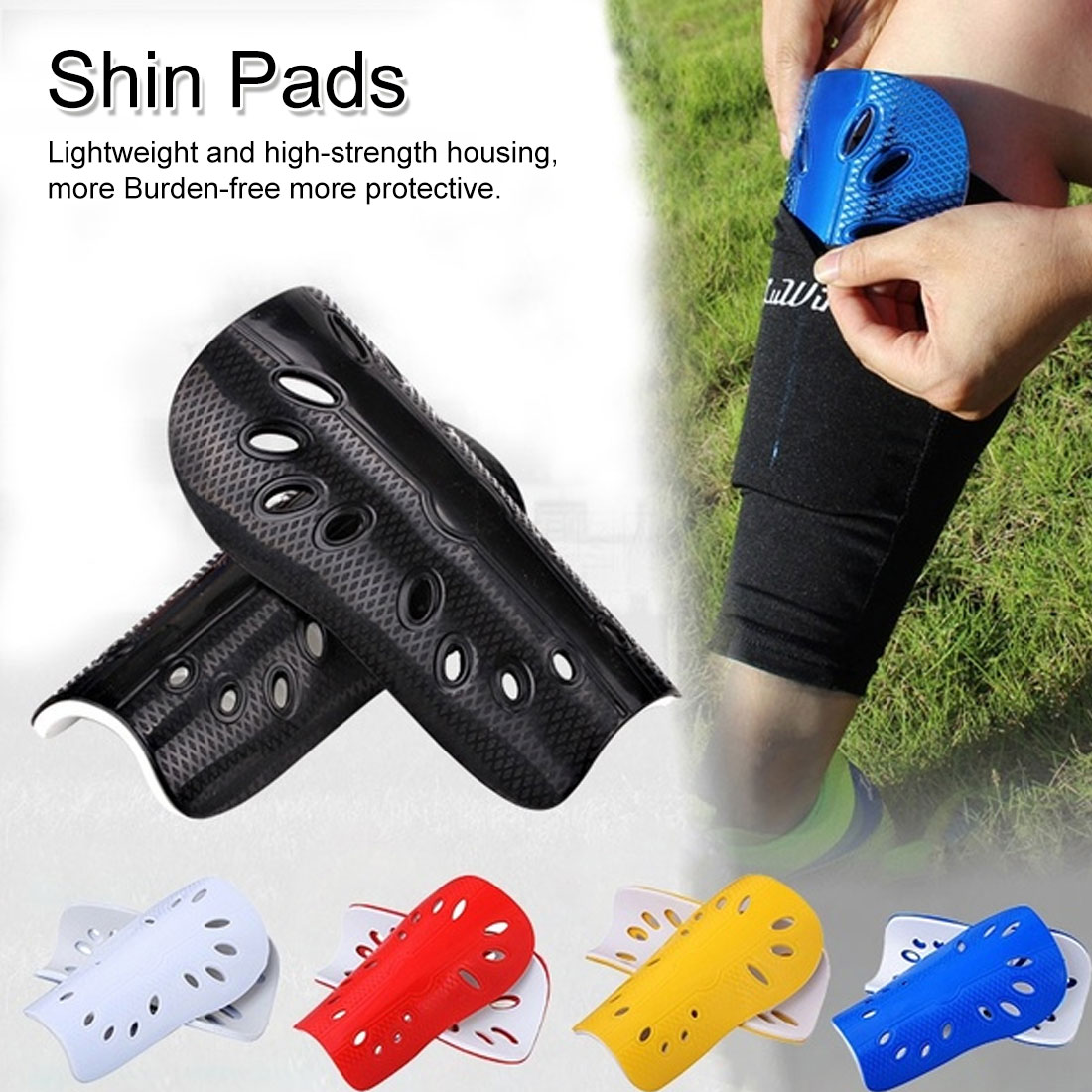 1 Pair Football Game Soccer Shin Guards Pads Leg Sleeves Soccer Shin Pads Adult Knee Support Football Sports