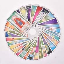 78 Uds cartas del Tarot cuatro personaje icónico cartas del Tarot las chicas de oro exquisita Tarot tarjetas amistad prueba de fuerza tarjetas de juego