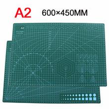 Tapete de corte de PVC A2 de 3mm, almohadilla de corte de retales con estampado por los dos lados, esterilla de corte autocurativa artesanal, álbumes de recortes acolchado, tablero de 45x60cm
