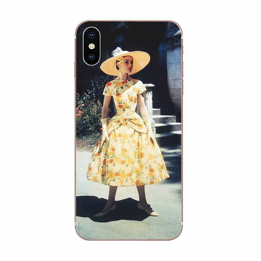 Cases For Galaxy J1 J2 J3 J330 J4 J5 J6 J7 J730 J8 2015 2016 2017 2018 mini Pro Audrey Hepburn Blue Bubble Gum