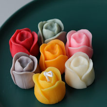 Aromatherapy Candle Silicone Mold 3D Tulip Bud Flower Shape Soap Silicone Mould DIY Floral Handmade Soap Model Plaster Mold