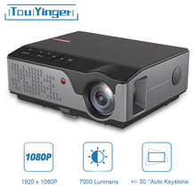 Touyinger completo hd 1080p projetor rd826 td96 android wifi led proyector nativo 1920x1080p 3d casa teatro inteligente telefone beamer