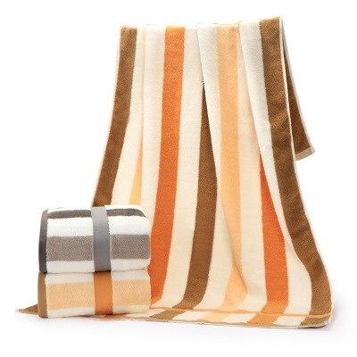 Brown orange white