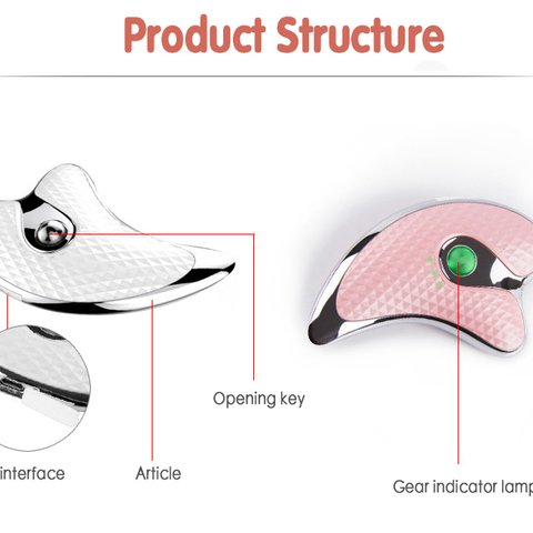 V-Face Skin Instrument Scraching Facial Eyes Scraping Gua Sha SPA Massage Tool Health Care Beauty Acupoints Plate Massager Islamabad