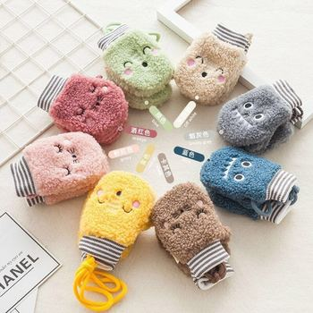 Kids Boys Girls Gloves Winter Baby Full Finger Mittens Thicken Infant Fleece Toddler Hand Warmer 1-4Y