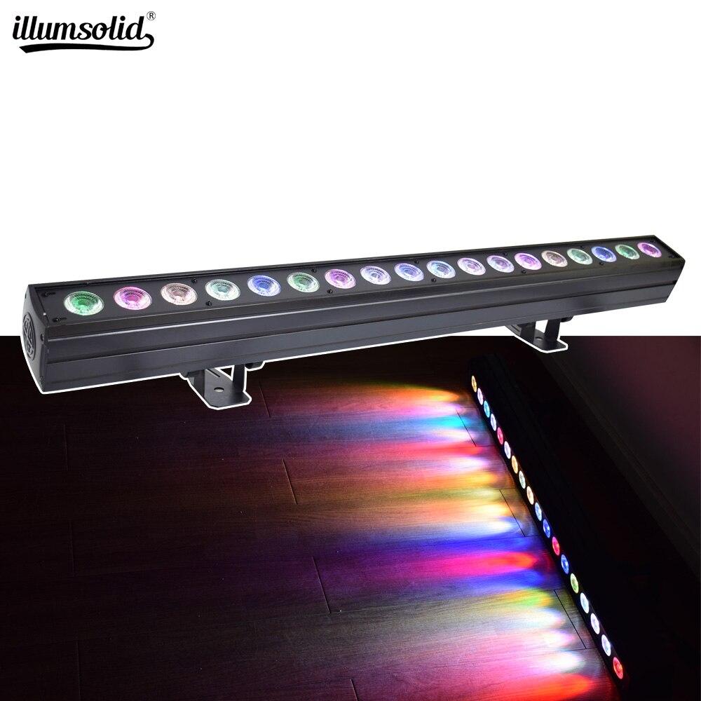 Светодиодный светильник для мытья стен 18x15 Вт RGBWA 5в1 сценическое освещение для помещений с бегущим конским точечным управлением DMX512 хороший...
