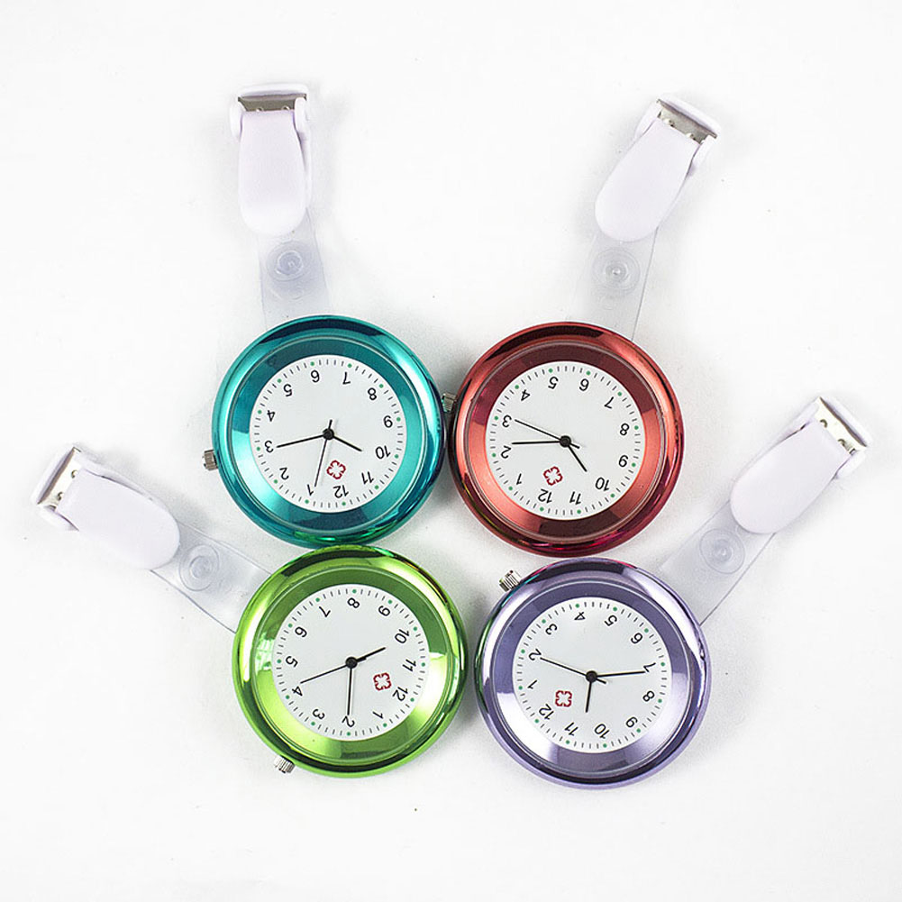 Nurse Watch Brooch Silicone Clip Infection Control Design Nurse Doctor Paramedic Brooch Fob Watch Hh88