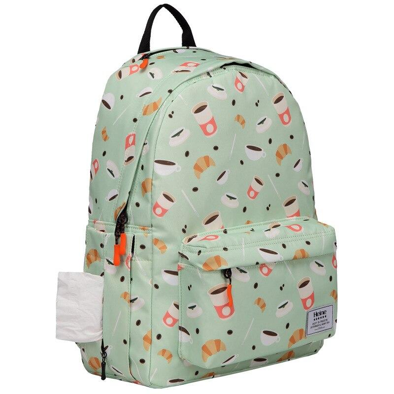 Heine Hain-Style Printed Diaper Bag Multi-functional Mom Nursing Backpack Large Capacity Waterproof MOTHER'S Bag