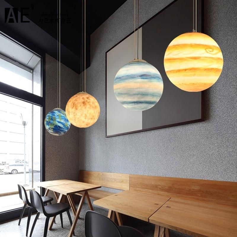 Acrylic Planet Ball Suspension Pendant Lamp Pendant Lights